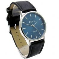 Ravel Mens Classic Quartz Watch Black  Strap Blue Face R0129.06.1